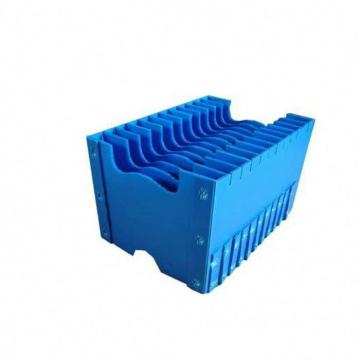 Foldable PP Corrugated Plastics Hollow Plate Skeleton Boxes With Cloth Cover