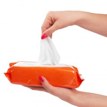 Hand 75% Alcohol Antibacterial Disinfectant Cleaning Wet Wipes Nonwoven Wipe