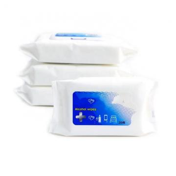 Flushable Antibacterial Disinfectant 75% Alcohol Sanitizing Cleaning Wet Wipes